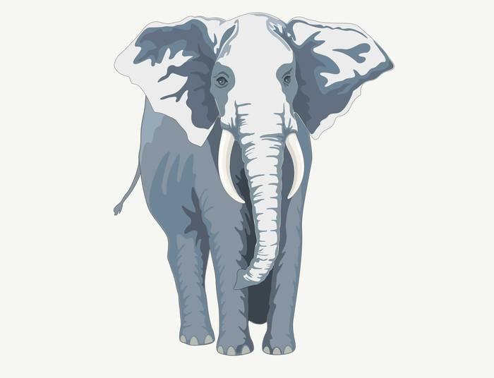 Наклейки Слон