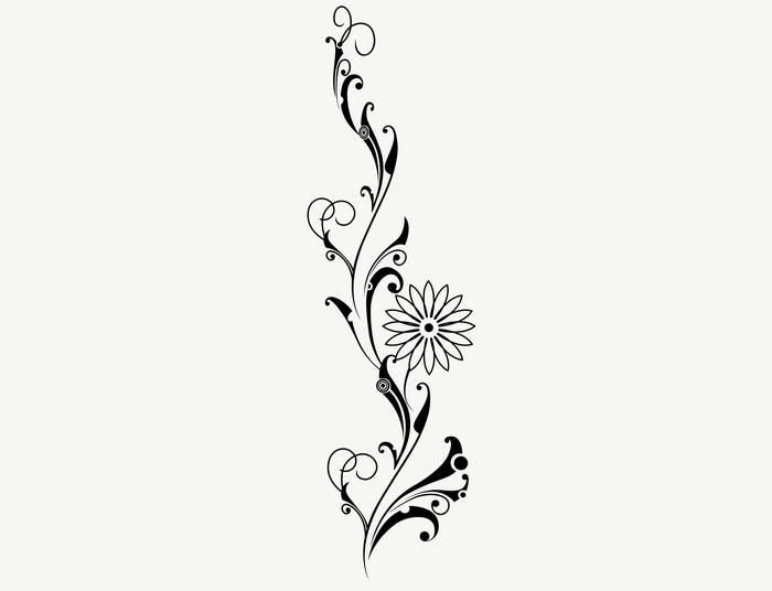 Наклейки Цветок