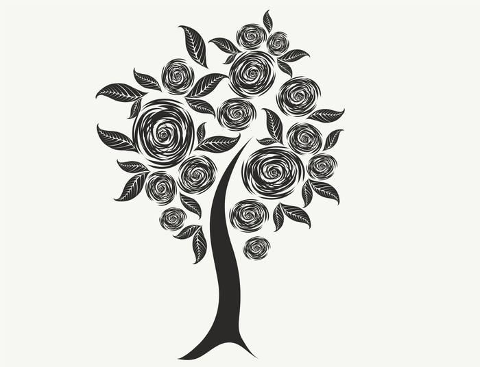 Наклейки Дерево