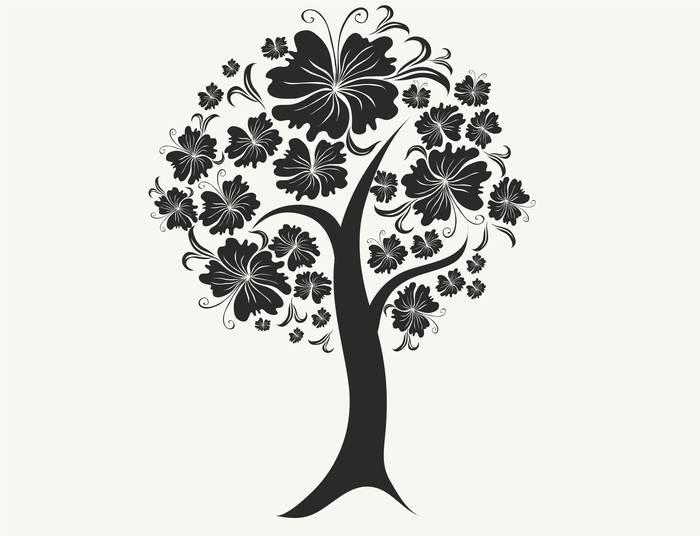 Наклейки Цветущее дерево