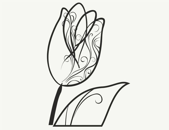 Наклейки Тюльпан