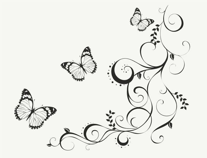 Наклейки Бабочки