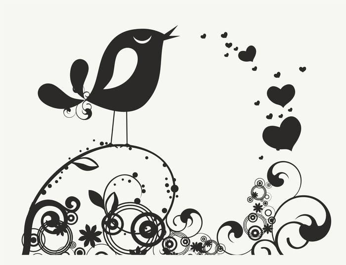Наклейки Птица