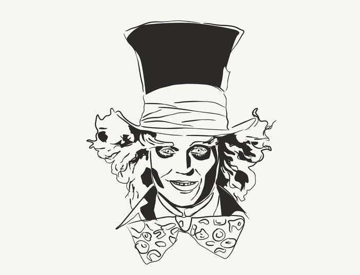 Наклейки Безумный Шляпник