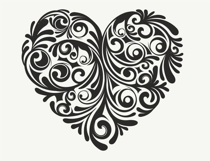 Наклейки Сердце