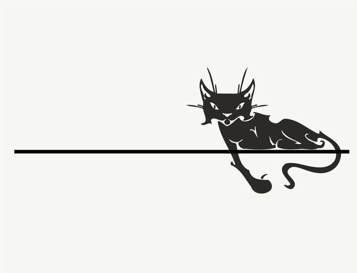 Наклейки Лежачий кот