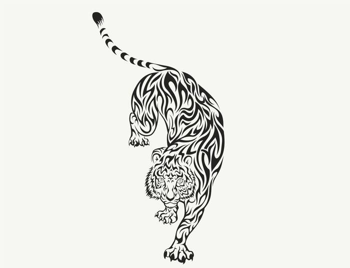 Наклейки Тигр