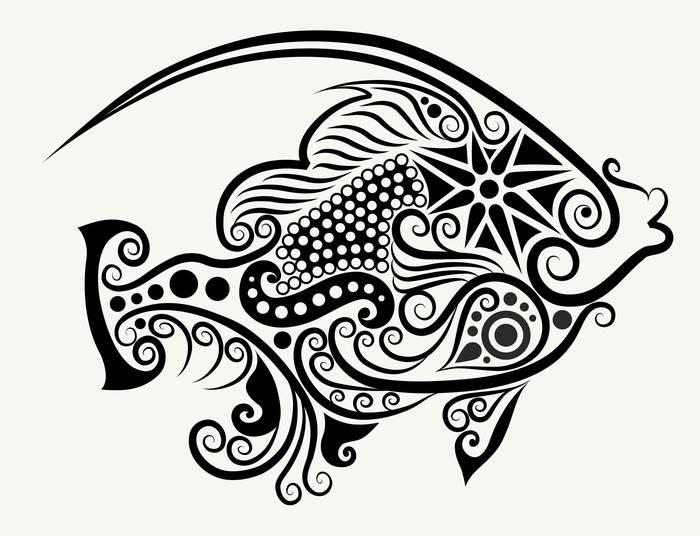 Наклейки Рыбка