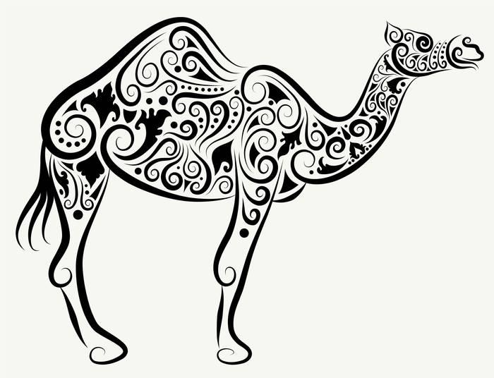 Наклейки Верблюд