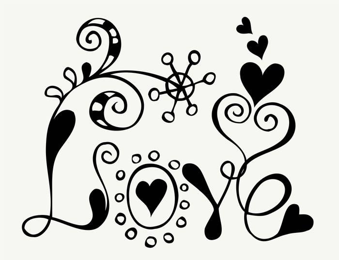 Наклейки Любовь