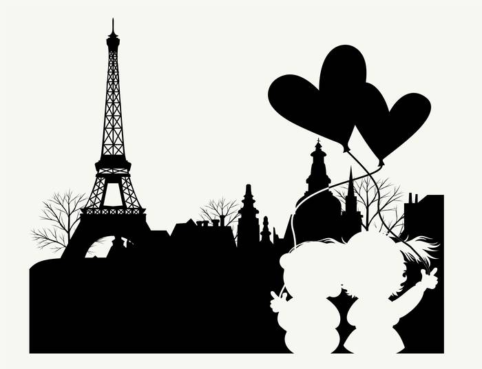 Наклейки Париж