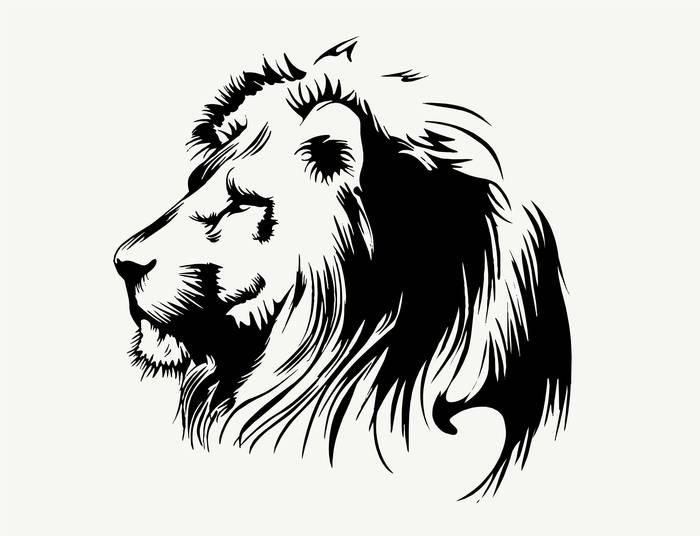 Наклейки Лев