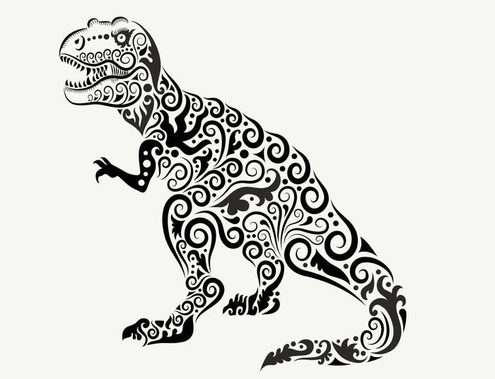 Наклейки Динозавр