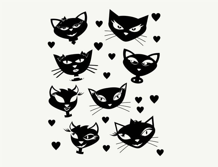 Наклейки Коты