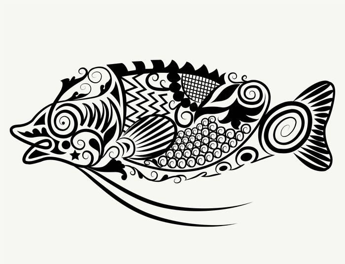 Наклейки Рыба