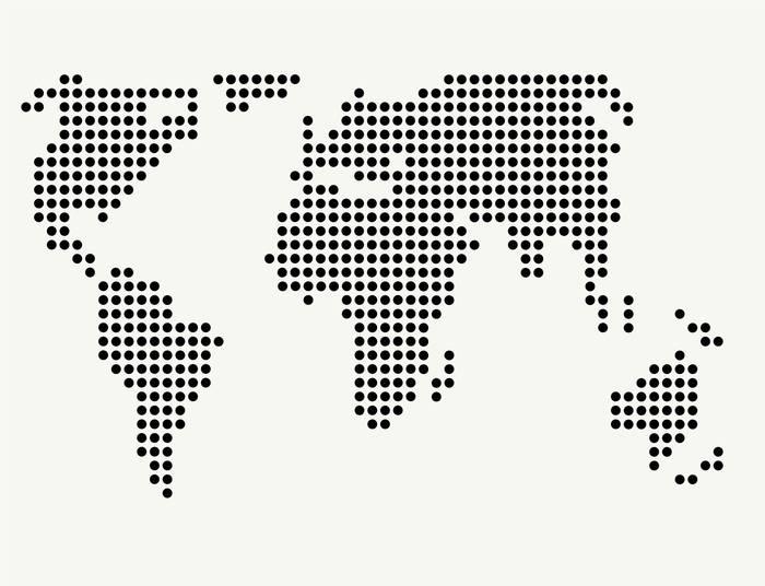 Наклейки Карта мира