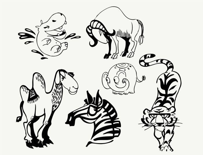 Наклейки Животные