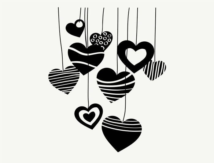 Наклейки Сердца