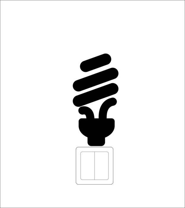 Наклейки Лампочка