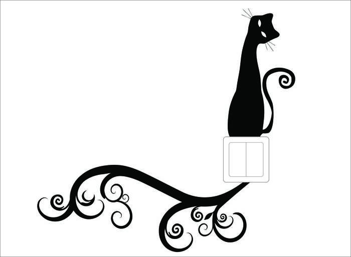 Наклейки Кот