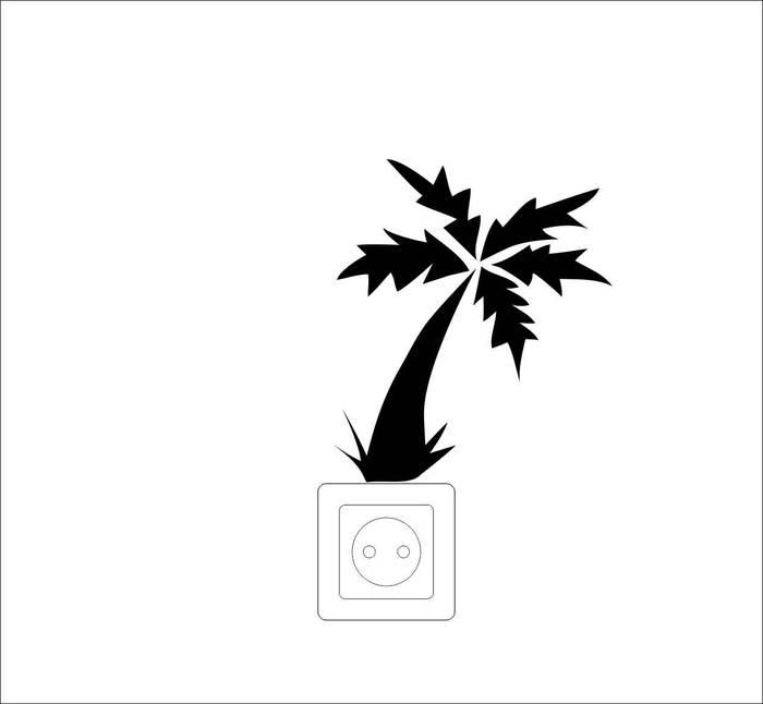 Наклейки Пальма