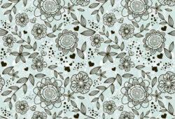 Контур цветов, дизайн #05801