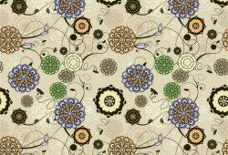 Абстрактные цветы, дизайн #05802