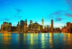 Вечерние небоскрёбы, дизайн #05822