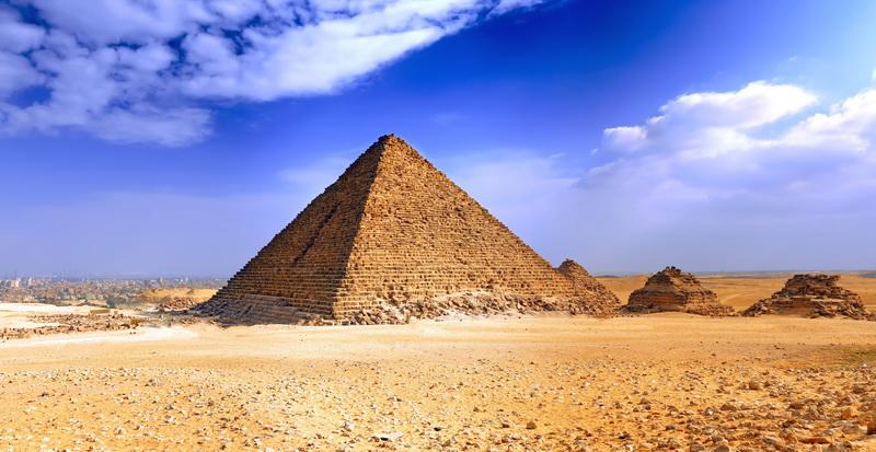 Печать на холсте Египетская пирамида, дизайн #05831
