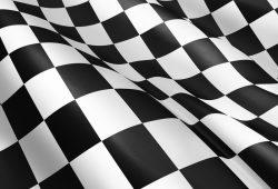 Чёрно-белый флаг, дизайн #05838