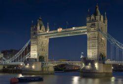 Лондонский мост ночью, дизайн #05839