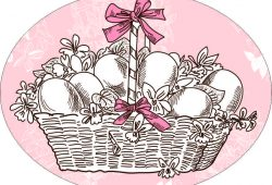 Корзина с яйцами, дизайн #05886