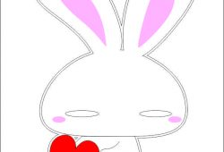 Зайка с сердцем, дизайн #05850