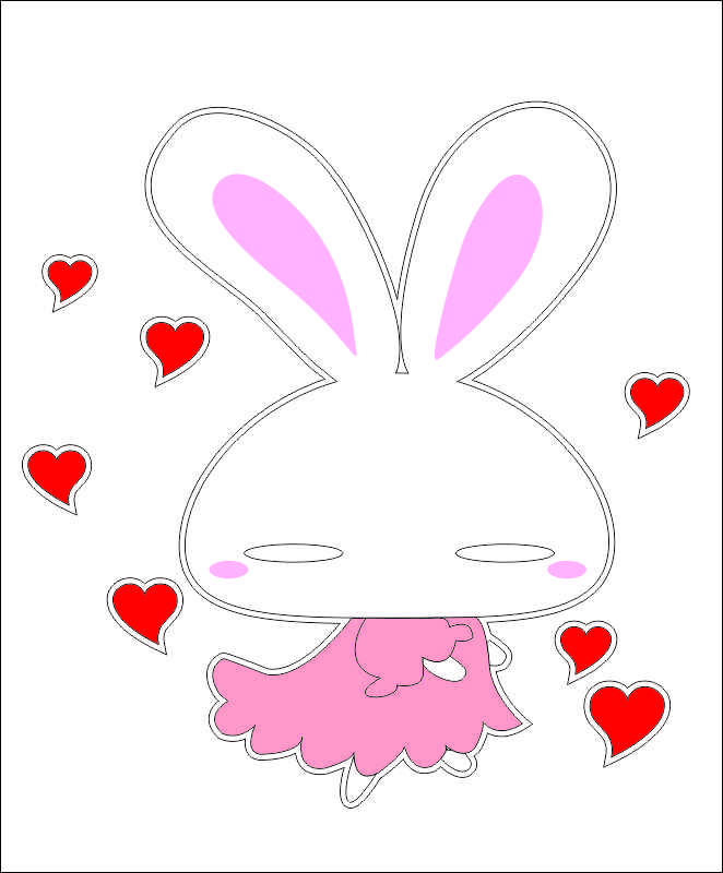 Наклейки Влюблённая зайка, дизайн #05852