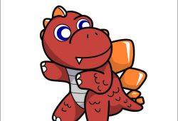 Динозаврик Стегозавр, дизайн #05867