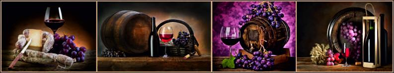Скинали для кухни Вино в бочках, дизайн #05898