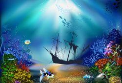 Затонувший корабль, дизайн #05926
