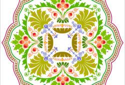 Растительный ковёр, дизайн #06005