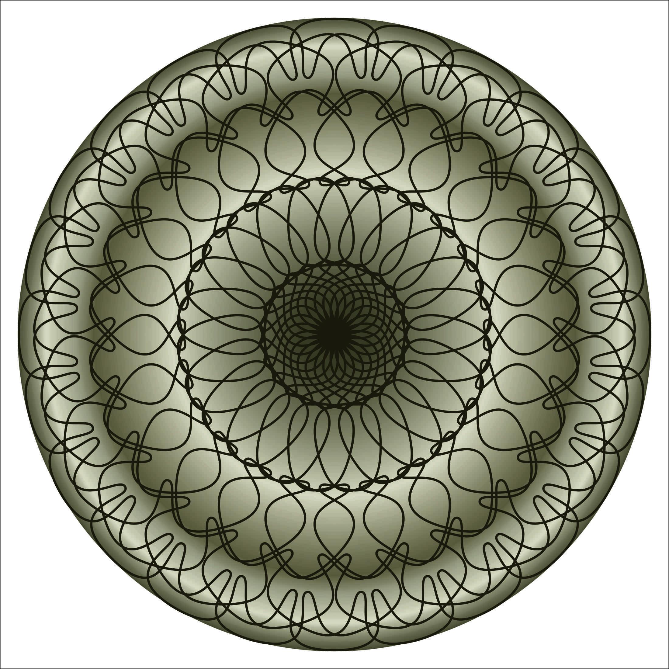 Ковёр абстрактный, дизайн #06006