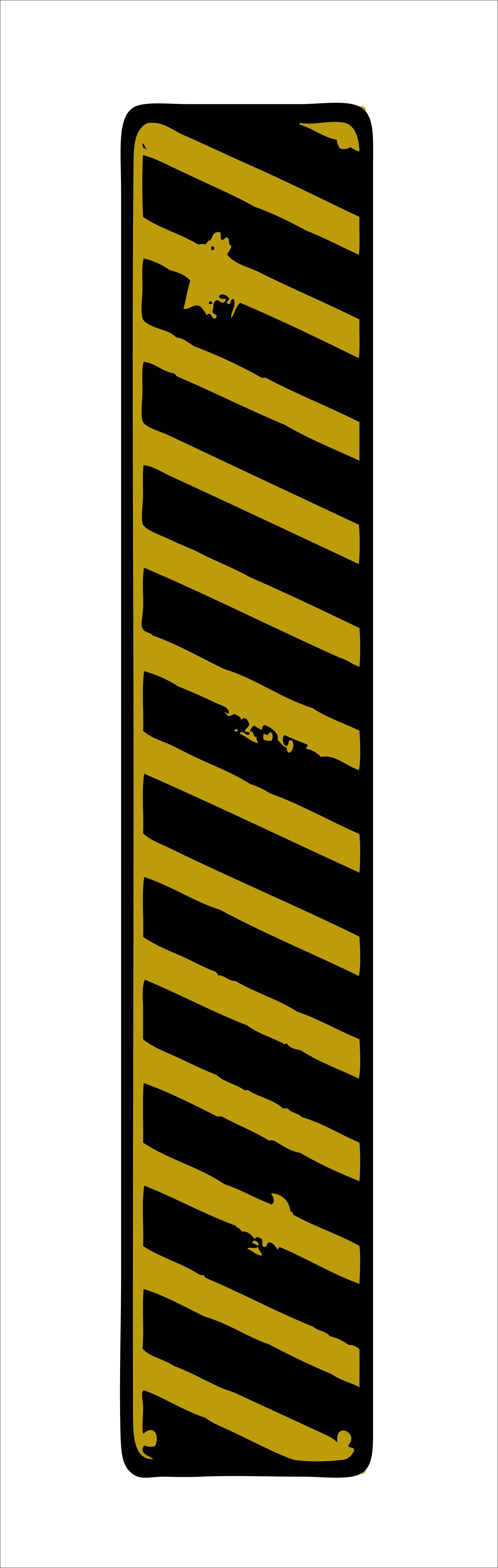 Жёлтая зебра, дизайн #06008
