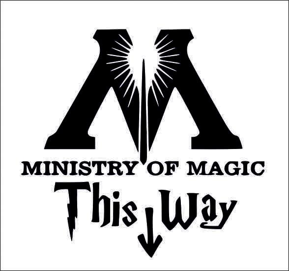 Наклейки Министерство Магии, дизайн #05956