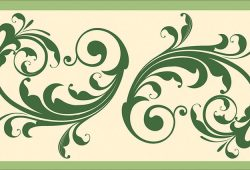 Крупный растительный орнамент, дизайн #06022