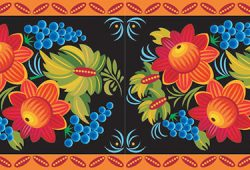Яркая хохлома, дизайн #06038