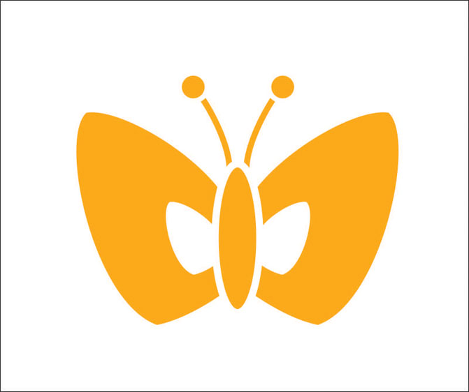 Наклейки Бабочка, дизайн #06055