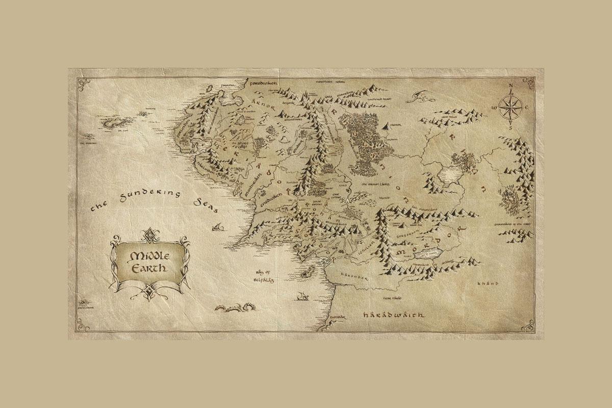 Карта Средиземья, дизайн #06087