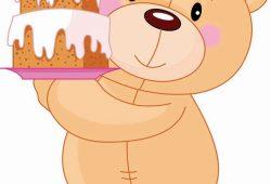Мишка с тортиком, дизайн #06110