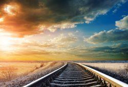 Железная дорога в даль, дизайн #06139
