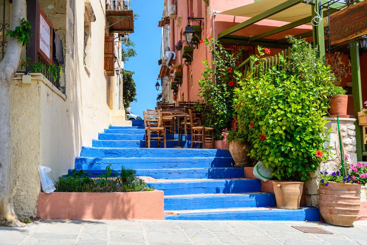 Печать на холсте Синие ступени, дизайн #06177