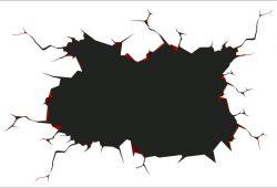 Разлом в стене, дизайн #06261