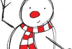Снеговик с птичкой, дизайн #06307